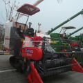 longer threshing drum self-propelled rice harvester with cab